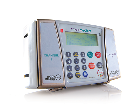 CME Medical BodyGuard 2CH Twin Channel Infusion Pump
